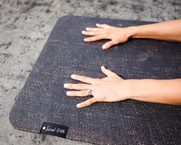 Earth Black Yoga/Pilates Mat by Second Earth
